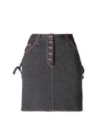 Minifalda en gris oscuro de Christian Dior Vintage