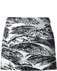 Minifalda Estampada Blanca y Negra de Kenzo