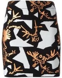 Minifalda estampada en negro y blanco