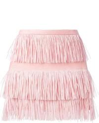 Minifalda Сon Flecos Rosada de MSGM