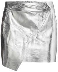 Minifalda plateada