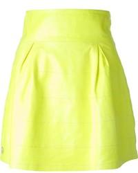 Minifalda Plisada Amarilla de Philipp Plein