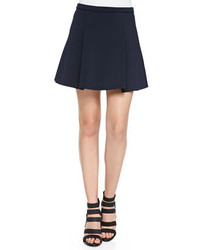 Minifalda plisada azul marino