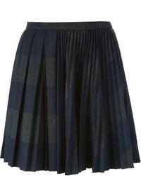 Minifalda plisada en gris oscuro de Marco De Vincenzo