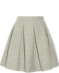 Minifalda plisada gris