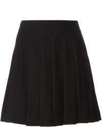 Minifalda plisada negra de Marc by Marc Jacobs