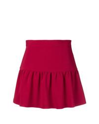 Minifalda roja de RED Valentino