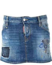 Minifalda vaquera azul de Dsquared2