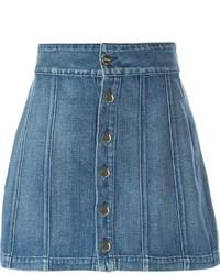 Minifalda vaquera azul de Frame Denim