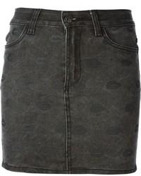 Minifalda vaquera en gris oscuro de American Retro