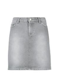 Minifalda Vaquera Gris de Helmut Lang Vintage