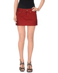 Minifalda vaquera roja