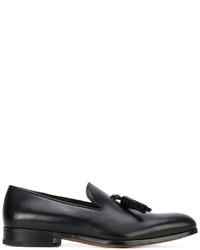 Mocasín con borlas de cuero negro de Salvatore Ferragamo