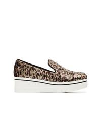 Mocasín con plataforma de leopardo marrón de Stella McCartney