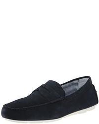 Mocasín de ante azul marino de Armani Jeans