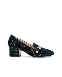 Mocasín de Ante Azul Marino de Gucci