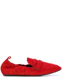 Mocasín de Ante Rojos de Lanvin