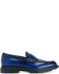 Mocasín de cuero azul marino de Hogan
