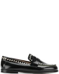 Mocasín de cuero con tachuelas negros de Isabel Marant