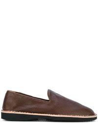 Mocasín de cuero marrón de Maison Margiela