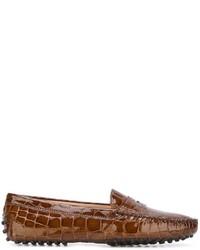 Mocasín de cuero marrónes de Tod's