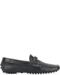 Mocasín de cuero negro de Emporio Armani