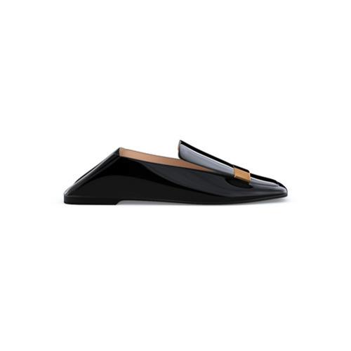 Mocasín de cuero negros de Sergio Rossi