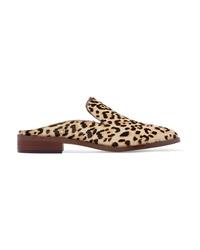 Mocasín de pelo de becerro de leopardo marrónes