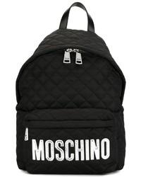 Mochila acolchada negra de Moschino