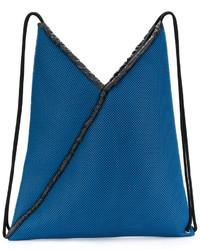 Mochila azul de MM6 MAISON MARGIELA