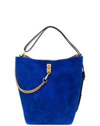 Mochila con cordón de ante azul de Givenchy