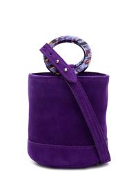 Mochila con cordón de ante en violeta de Simon Miller