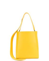 Mochila con Cordón de Cuero Amarilla de Calvin Klein 205W39nyc