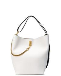 Mochila con cordón de cuero blanca de Givenchy