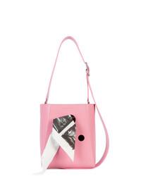 Mochila con cordón de cuero estampada rosada de Calvin Klein 205W39nyc
