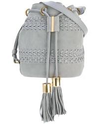 Mochila con cordón de cuero gris de See by Chloe