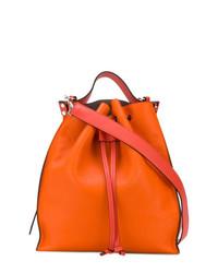 Mochila con Cordón de Cuero Naranja de JW Anderson