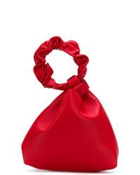 Mochila con cordón de cuero roja de Elena Ghisellini