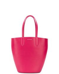Mochila con cordón de cuero rosa de Alexander McQueen