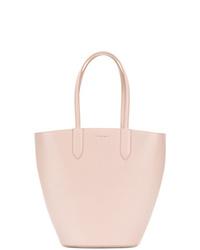 Mochila con cordón de cuero rosada de Alexander McQueen