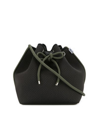 Mochila con cordón de lona negra de Nimble Activewear
