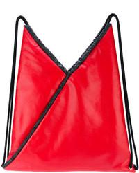 Mochila con estampado geométrico roja de MM6 MAISON MARGIELA