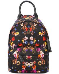 Mochila con print de flores Negra de Givenchy
