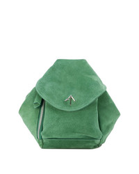 Mochila de ante verde de Manu Atelier
