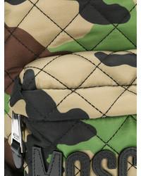 Mochila de Camuflaje Verde Oscuro de Moschino