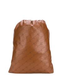 Mochila de cuero marrón de Stella McCartney