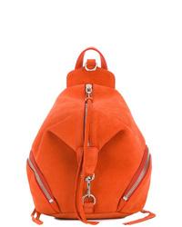 Mochila de cuero naranja de Rebecca Minkoff