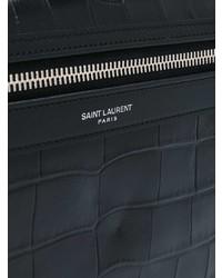 Mochila de cuero negra de Saint Laurent