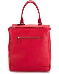 Mochila de Cuero Roja de Givenchy