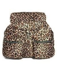 Mochila de leopardo marrón